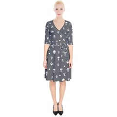 Panda Pattern Wrap Up Cocktail Dress