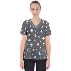 Panda Pattern Scrub Top