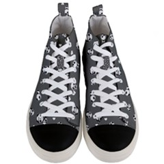 Panda Pattern Men s Mid Top Canvas Sneakers