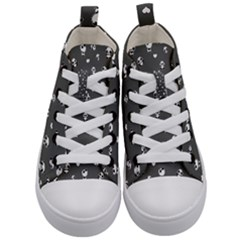 Panda Pattern Kid s Mid Top Canvas Sneakers