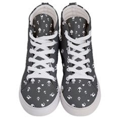 Panda Pattern Men s Hi Top Skate Sneakers