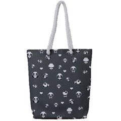 Panda Pattern Full Print Rope Handle Tote (small)