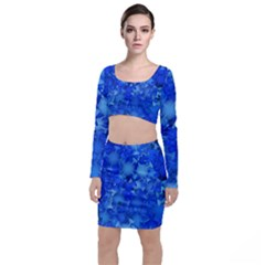 Fun,fantasy And Joy 4 Long Sleeve Crop Top & Bodycon Skirt Set