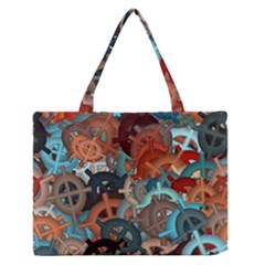 Fun,fantasy And Joy 2 Zipper Medium Tote Bag