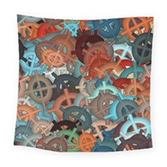 Fun,fantasy And Joy 2 Square Tapestry (large)