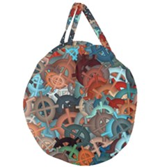 Fun,fantasy And Joy 2 Giant Round Zipper Tote