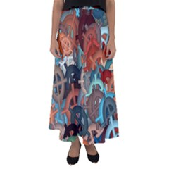 Fun,fantasy And Joy 2 Flared Maxi Skirt