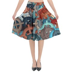 Fun,fantasy And Joy 2 Flared Midi Skirt
