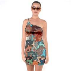 Fun,fantasy And Joy 2 One Soulder Bodycon Dress