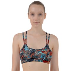 Fun,fantasy And Joy 2 Line Them Up Sports Bra