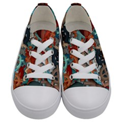 Fun,fantasy And Joy 2 Kids  Low Top Canvas Sneakers
