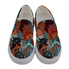 Fun,fantasy And Joy 2 Women s Canvas Slip Ons