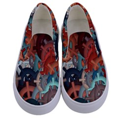 Fun,fantasy And Joy 2 Kids  Canvas Slip Ons