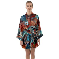 Fun,fantasy And Joy 2 Long Sleeve Kimono Robe