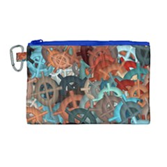 Fun,fantasy And Joy 2 Canvas Cosmetic Bag (large)