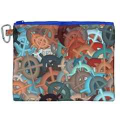 Fun,fantasy And Joy 2 Canvas Cosmetic Bag (xxl)