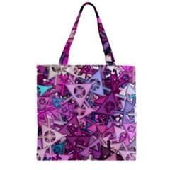 Fun,fantasy And Joy 7 Zipper Grocery Tote Bag