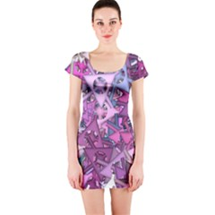 Fun,fantasy And Joy 7 Short Sleeve Bodycon Dress