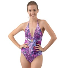 Fun,fantasy And Joy 7 Halter Cut Out One Piece Swimsuit
