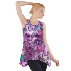 Fun,fantasy And Joy 7 Side Drop Tank Tunic