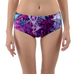 Fun,fantasy And Joy 7 Reversible Mid Waist Bikini Bottoms