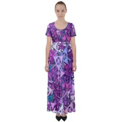 Fun,fantasy And Joy 7 High Waist Short Sleeve Maxi Dress