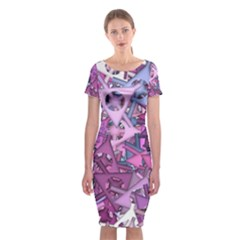 Fun,fantasy And Joy 7 Classic Short Sleeve Midi Dress