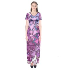 Fun,fantasy And Joy 7 Short Sleeve Maxi Dress