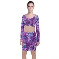 Fun,fantasy And Joy 7 Long Sleeve Crop Top & Bodycon Skirt Set