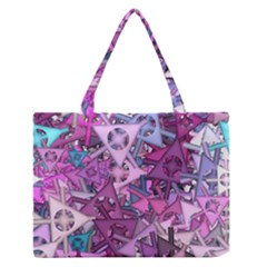 Fun,fantasy And Joy 7 Zipper Medium Tote Bag