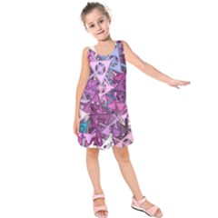 Fun,fantasy And Joy 7 Kids  Sleeveless Dress