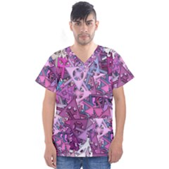 Fun,fantasy And Joy 7 Men s V Neck Scrub Top