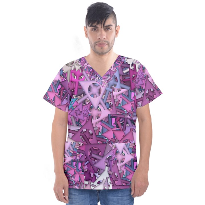 Fun,fantasy And Joy 7 Men s V-Neck Scrub Top