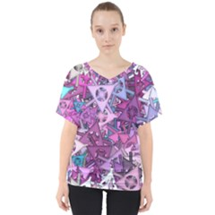 Fun,fantasy And Joy 7 V Neck Dolman Drape Top