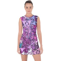 Fun,fantasy And Joy 7 Lace Up Front Bodycon Dress
