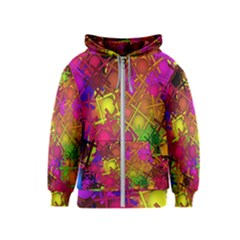 Fun,fantasy And Joy 5 Kids  Zipper Hoodie
