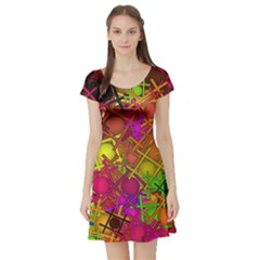 Fun,fantasy And Joy 5 Short Sleeve Skater Dress