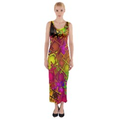 Fun,fantasy And Joy 5 Fitted Maxi Dress