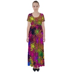 Fun,fantasy And Joy 5 High Waist Short Sleeve Maxi Dress