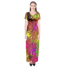 Fun,fantasy And Joy 5 Short Sleeve Maxi Dress