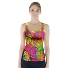 Fun,fantasy And Joy 5 Racer Back Sports Top