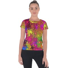 Fun,fantasy And Joy 5 Short Sleeve Sports Top