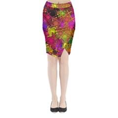 Fun,fantasy And Joy 5 Midi Wrap Pencil Skirt