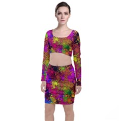 Fun,fantasy And Joy 5 Long Sleeve Crop Top & Bodycon Skirt Set