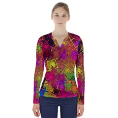Fun,fantasy And Joy 5 V Neck Long Sleeve Top