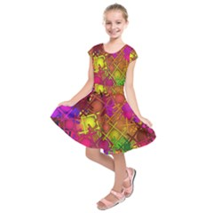 Fun,fantasy And Joy 5 Kids  Short Sleeve Dress