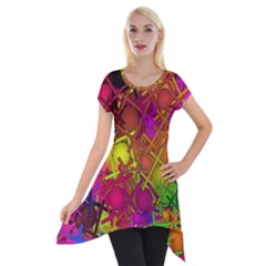 Fun,fantasy And Joy 5 Short Sleeve Side Drop Tunic