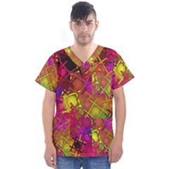 Fun,fantasy And Joy 5 Men s V Neck Scrub Top