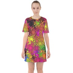 Fun,fantasy And Joy 5 Sixties Short Sleeve Mini Dress