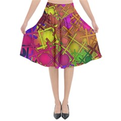 Fun,fantasy And Joy 5 Flared Midi Skirt